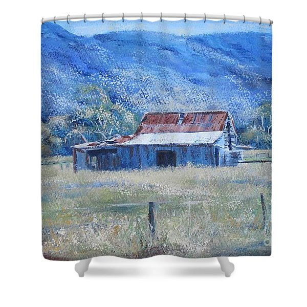 Warby Hut Shower Curtain