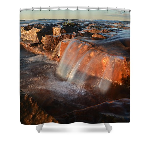 Wards Beach Waterfall-1 Shower Curtain