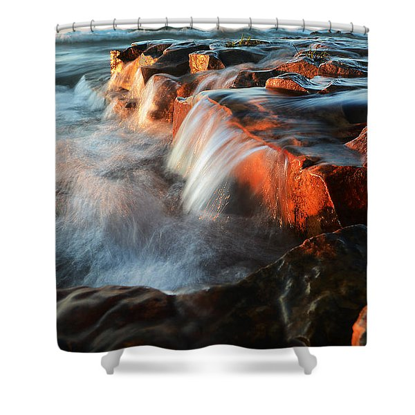 Wards Beach Waterfall-2 Shower Curtain