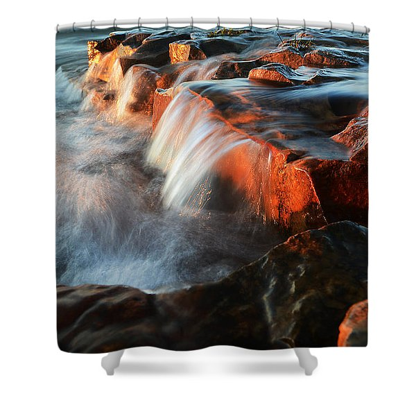 Wards Beach Waterfall-3 Shower Curtain