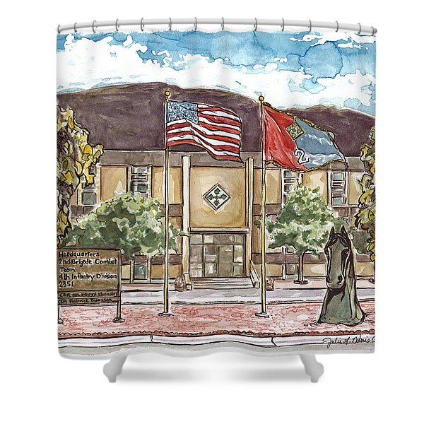 Warhorse Headquarters Shower Curtain