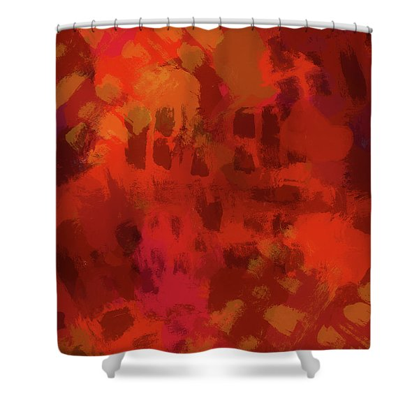 Warm Abstract 1 Shower Curtain