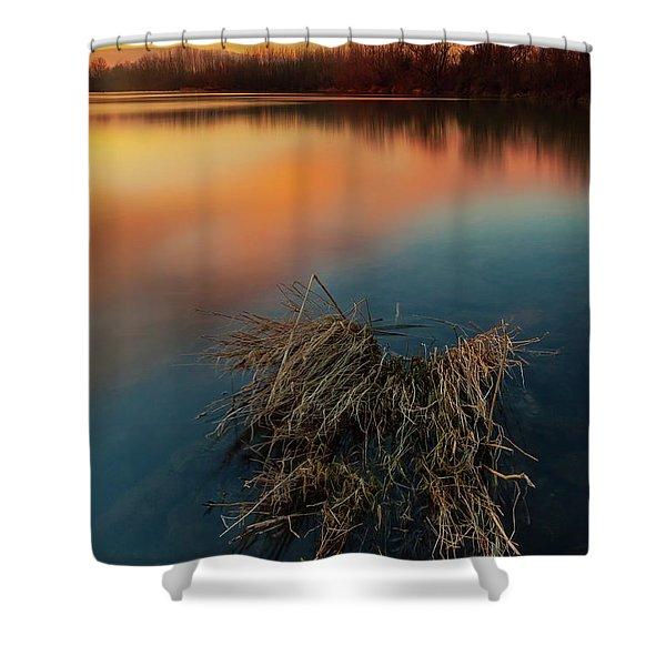 Warm Evening Shower Curtain