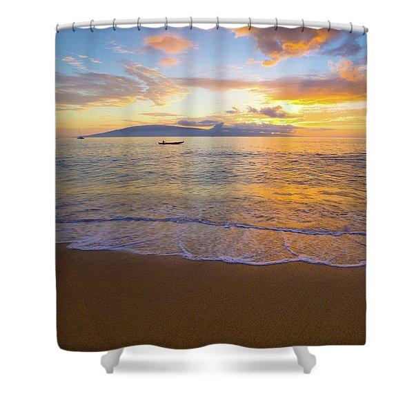 Warm Ka'anapali Sunset Shower Curtain