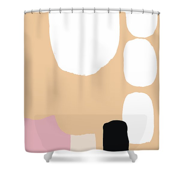 Warm Pastel Abstract Shower Curtain