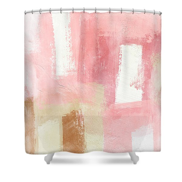 Warm Spring 2- Abstract Art By Linda Woods Shower Curtain