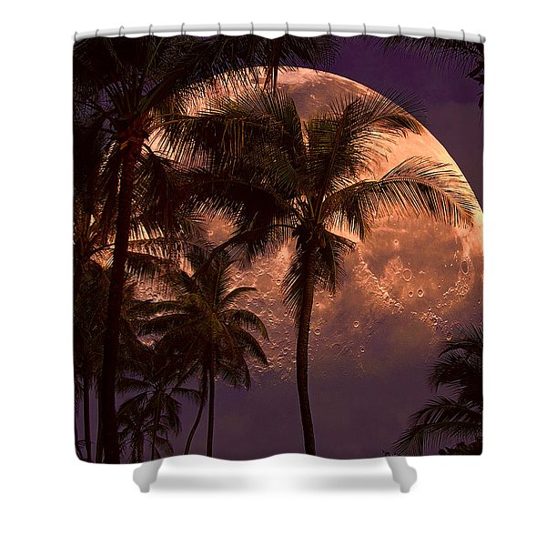 Warm Tropical Nights Shower Curtain