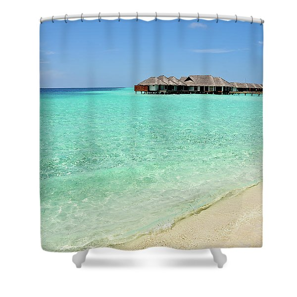 Warm Welcoming. Maldives Shower Curtain