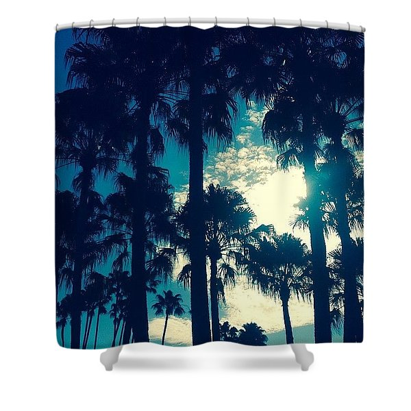 Silhouette Of Paradise  Shower Curtain