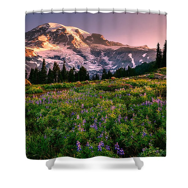 Warming Up In Paradise Shower Curtain