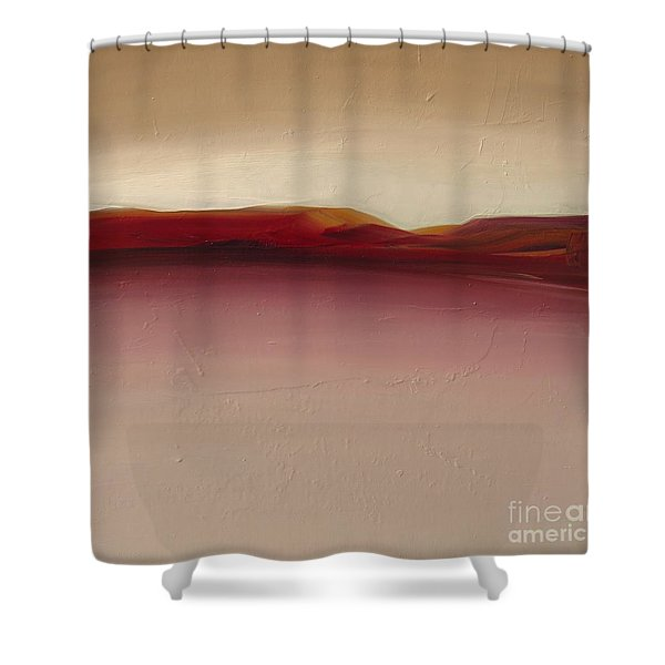 Warm Mountains Shower Curtain
