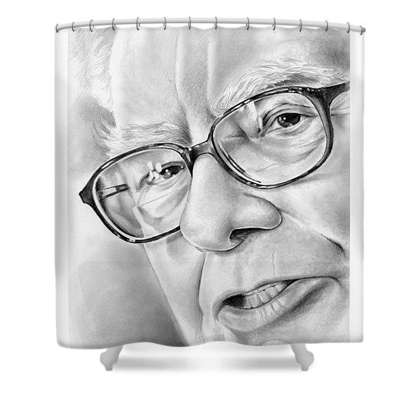 Warren Buffett Shower Curtain