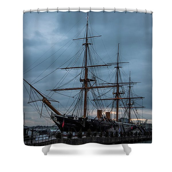 Warrior At Christmas Shower Curtain