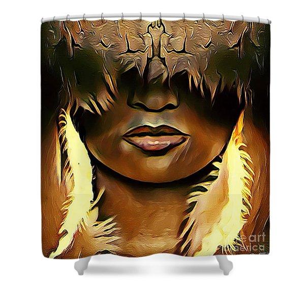 Warrior Queen Shaayna Shower Curtain