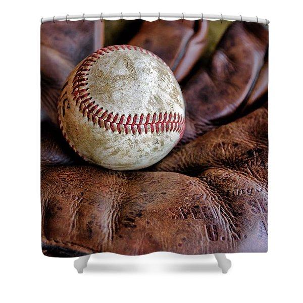 Wartime Baseball Shower Curtain