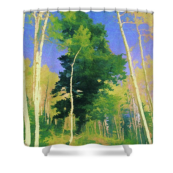 Wasatch Mountain Jungle Shower Curtain