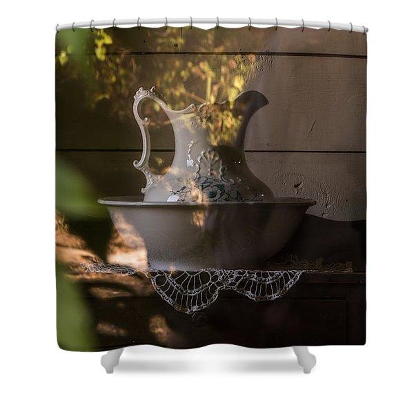 Wash Basin Shower Curtain