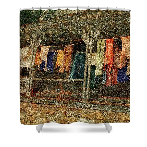 Washday Alton Nh Shower Curtain