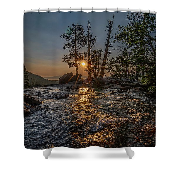 Washed With Golden Rays Shower Curtain