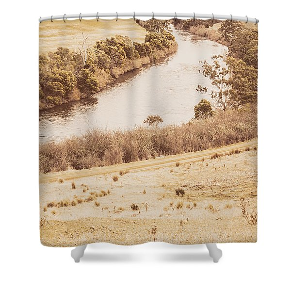 Washes Of Rustic Country Shower Curtain