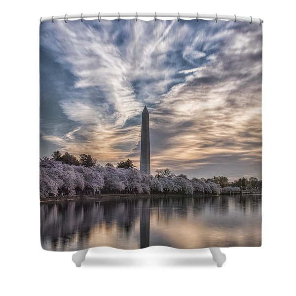 Washington Blossom Sunrise Shower Curtain