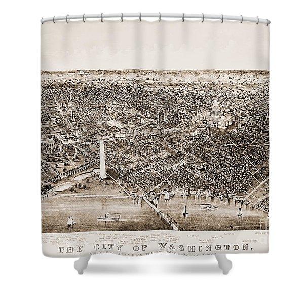 Washington D.c., 1892 Shower Curtain