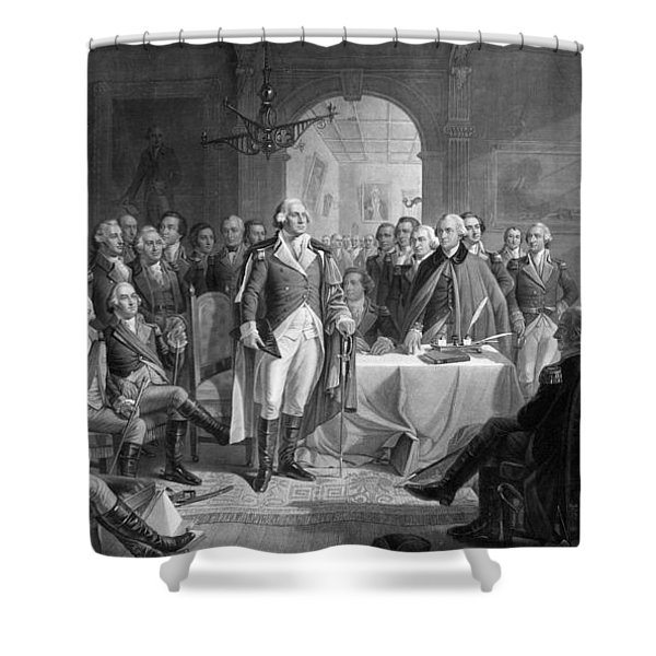 Washington Meeting His Generals Shower Curtain