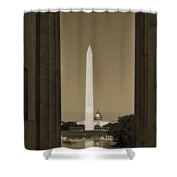 Washington Monument And Capitol #4 Shower Curtain