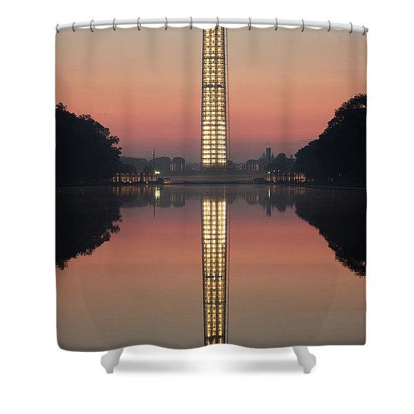 Washington Monument At Dawn Shower Curtain