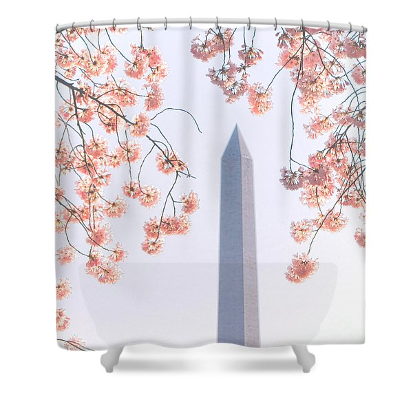 Washington Monument Spring Celebration  Shower Curtain