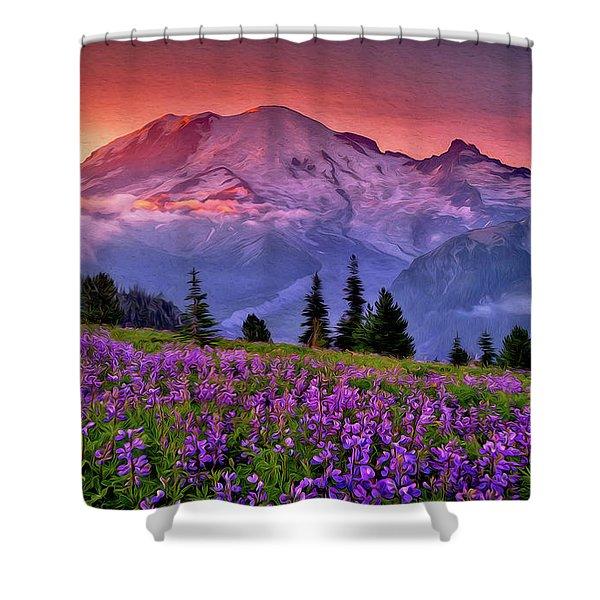 Washington, Mt Rainier National Park - 05 Shower Curtain