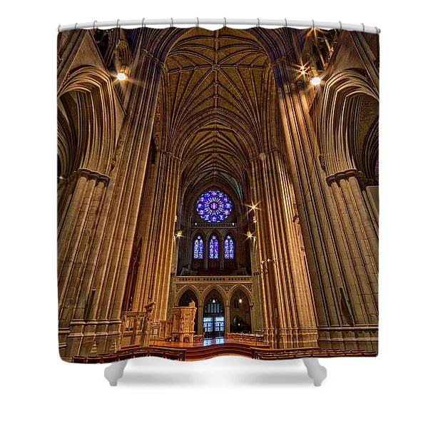 Washington National Cathedral Crossing Shower Curtain