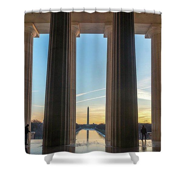Washington Through Lincoln Shower Curtain