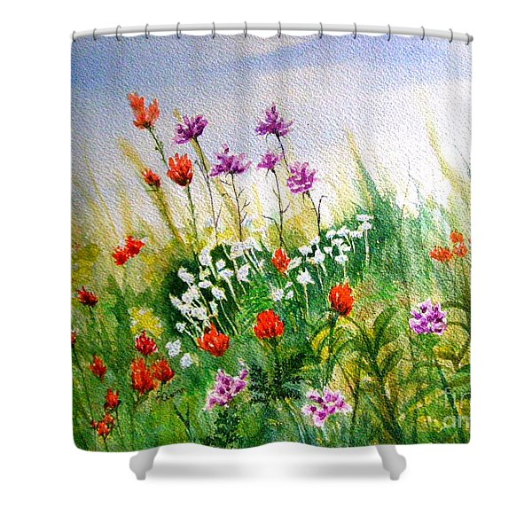 Washington Wildflowers Shower Curtain