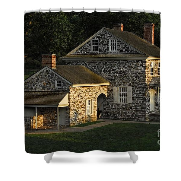 Washington's Headquarters At Valley Forge Shower Curtain