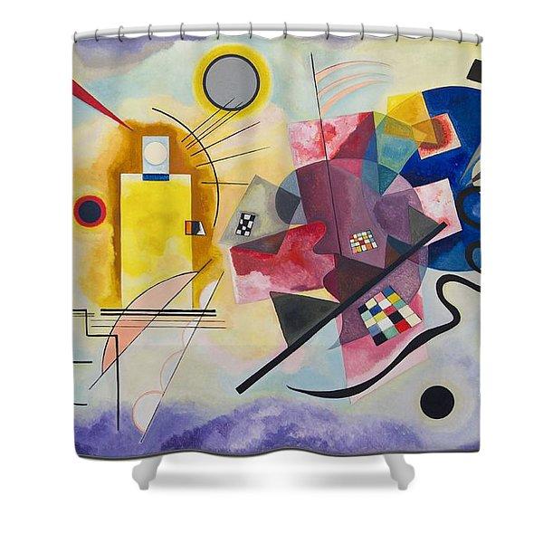 Wassily Kandinsky,jaune Rouge Bleu Shower Curtain