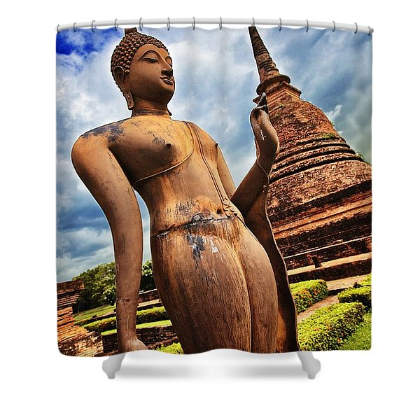 Wat Sra Sri In Sukhothai Thailand Southeast Asia Shower Curtain