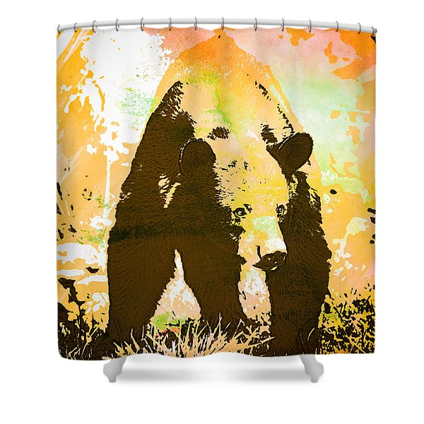 Watch Out Wc Shower Curtain