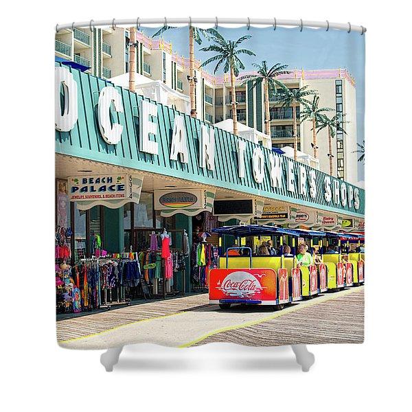 Watch The Tram Car - Wildwood, Nj Shower Curtain