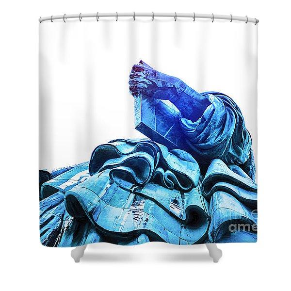 Watching Liberty Shower Curtain