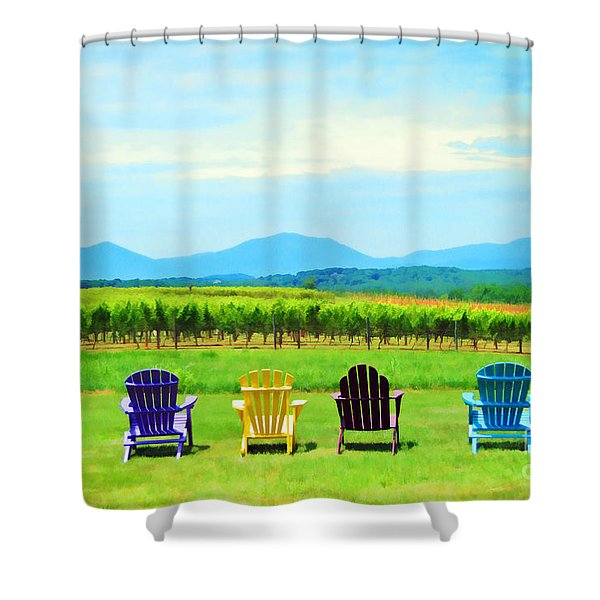 Watching The Grapes Grow Shower Curtain