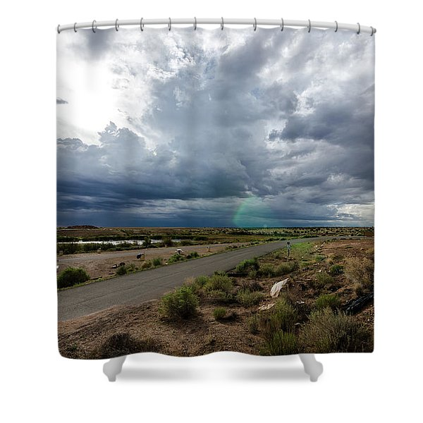 Watching The Storms Roll By Shower Curtain