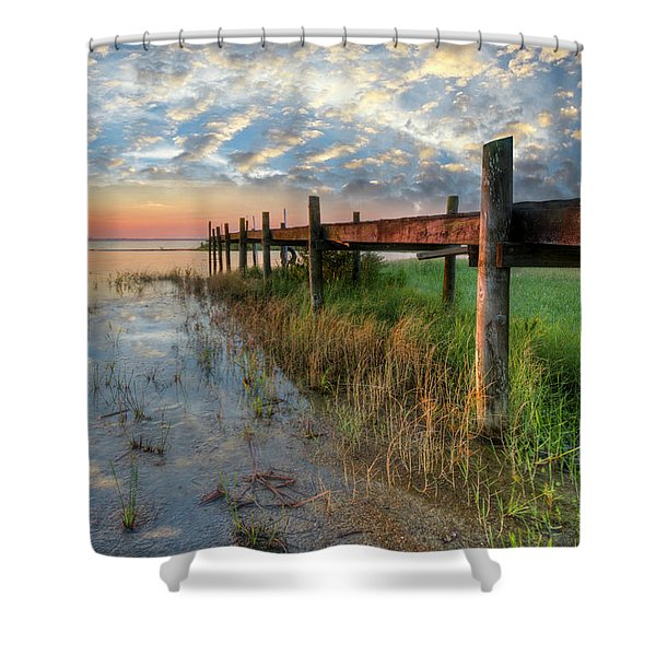 Watching The Sun Rise Shower Curtain