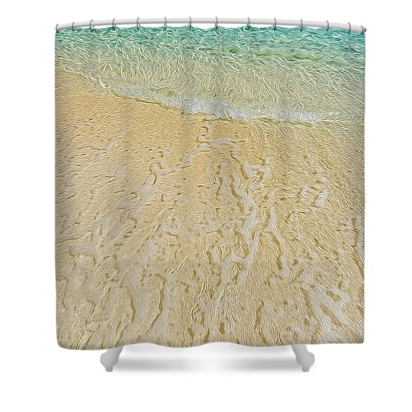 Water Abstract 1 Shower Curtain