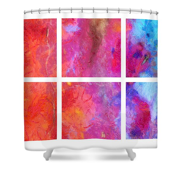 Water And Fire Abstract Shower Curtain