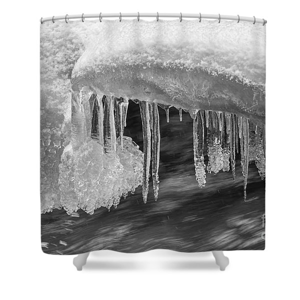 Water And Ice Shower Curtain