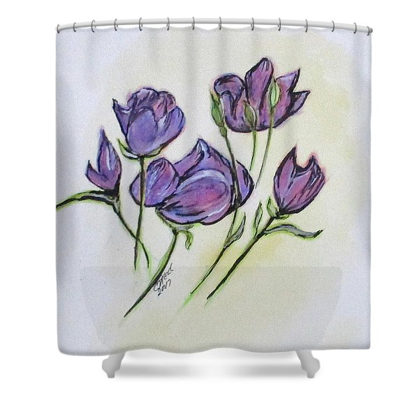 Water Color Pencil Exercise Shower Curtain