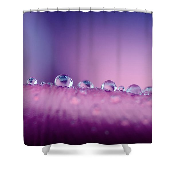 Water Drops Abstract Shower Curtain