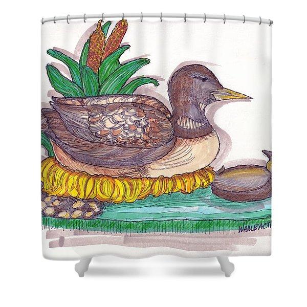 Water Fowl Motif #1 Shower Curtain