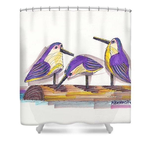 Water Fowl Motif #2 Shower Curtain